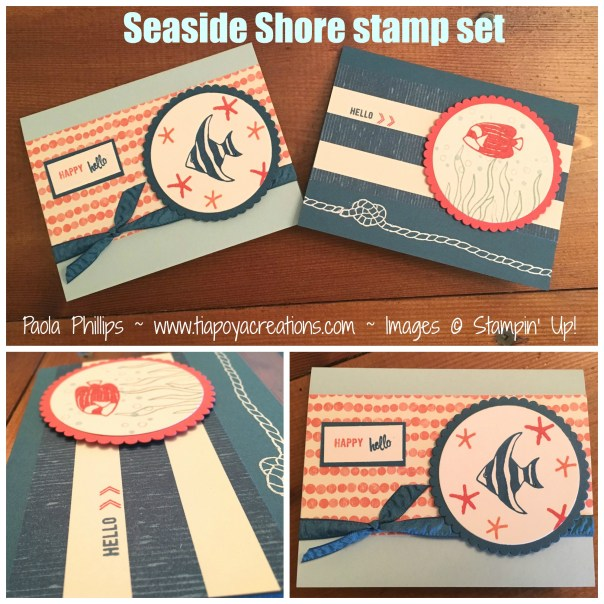 seaside shore stamp set collage