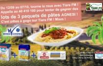 TERMINÉ - Des pâtes AGNESI sur Tiare FM du 12 septembre au 7 octobre !
