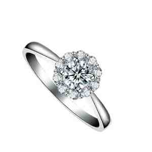 Carnation Ring Perhiasan cincin emas dan berian White Gold 18K Diamonds
