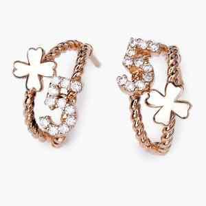 Perhiasan emas berlian rose gold 18K diamond DMKMED002
