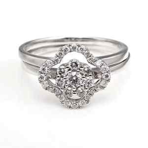 Perhiasan emas berlian white gold 18K diamond DHTXHJZ071