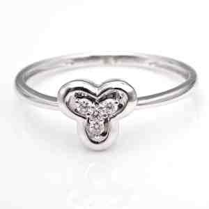 Perhiasan emas berlian white gold 18K diamond DHTXHJZ089