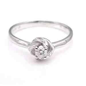 Perhiasan emas berlian white gold 18K diamond DJXJZ023