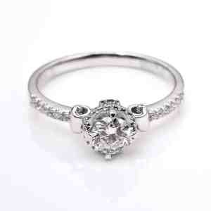 Perhiasan emas berlian white gold 18K diamond DJXJZ036