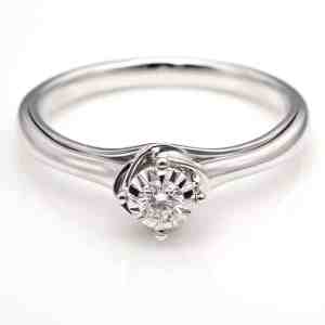 Perhiasan emas berlian white gold 18K diamond S-JXZ15486