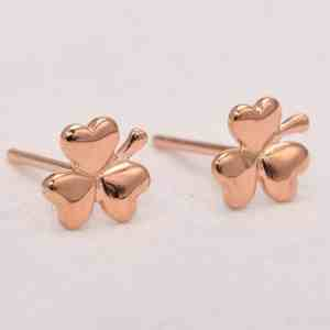 Perhiasan emas gold anting Leaf Rose Gold Anting Emas 18KD2 Rose Gold Anting Emas 18K