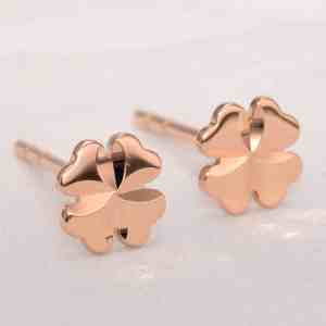 Perhiasan emas gold anting Clover D3 Rose Gold Anting Emas 18K