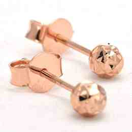 Perhiasan emas gold anting Sparkle Rose Gold Anting Emas 18K
