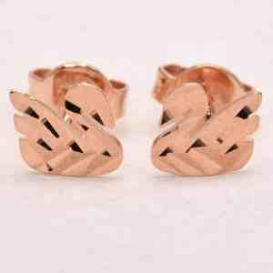 Perhiasan emas gold anting Swan Rose Gold Anting Emas 18K