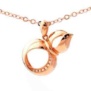 Tiaria 18K Gold Diamond Infinite Eye Pendant