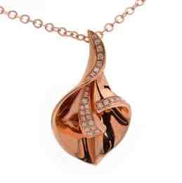Tiaria 18K Gold Diamond Sparkling Horn Pendant