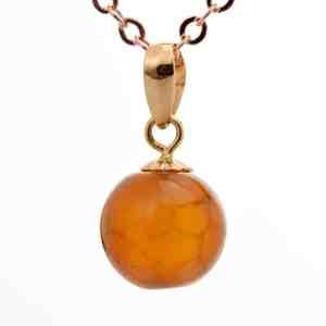 Tiaria Natural Gemstone Stone Pendant Liontin Emas Dan Batu Akik (2)