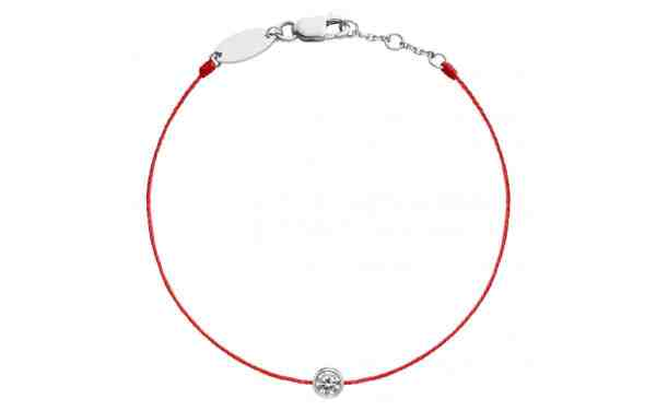 Tiaria 18K Gold Pure String Red Baby Bracelet