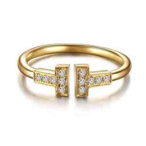 Tiaria 18K T Design Ring