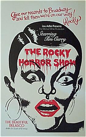 1974 ROCKY HORROR SHOW  BROADWAY SHOW Original Poster