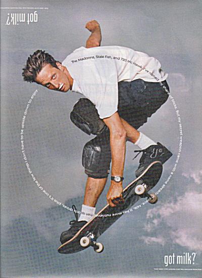 GOT MILK Skateboard AD Featuring TONY HAWK Got Milk
