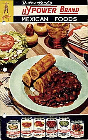 Rutherfords HYpower Brand Mexican Foods Cookbook