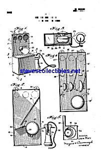 Patent Art: 1920s Marx Toy Telephone Coin Bank (Toy Banks
