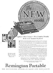 1925 REMINGTON PORTABLE Typewriter Ad (Vintage Typewriters