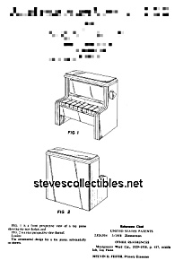Patent Art: 1970s CHANGE-A-TUNE PIANO Fisher Price Toy