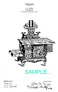 Patent Art: TOY CAST IRON STOVE ..The Queen.. (Antique and