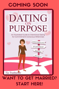 Book Poster Coming Soon- Dating with Purpose-an Illustrated Guide to Intentional Dating for Commitment-Conscious Millennials.