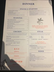 The Menu - Foxlow Soho Review