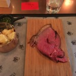 Beautifully cooked beef rump, cauliflower cheese & garlic pesto - Stoke House Victoria Review