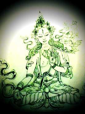White Tara Tib Dolma Buddhist Art Thangka Painting