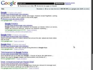 Accès de parano chez google...