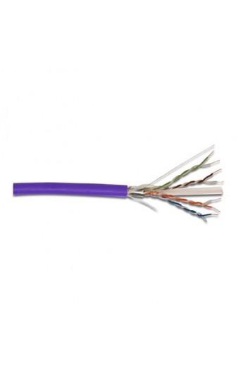 Cable RJ45 Cat.6 FTP SÓLIDOLSOH Bobina100mts Violeta