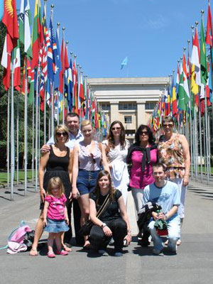 TICCN UK members touring the United Nations whilst on a mission trip in Geneva.