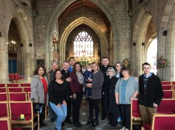 TICCN ministers and friends at St Asaph's Cathedral Wales, following a network communion service.