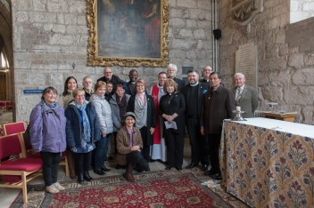 Visit to St Asaph Cathedral, exploring the riches of our christian heritage as part of the TICCN Conference, November 2017