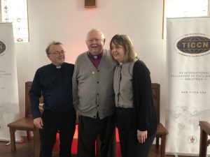 Archbishop Doyle with Pastors Denis and Beverley Dradley