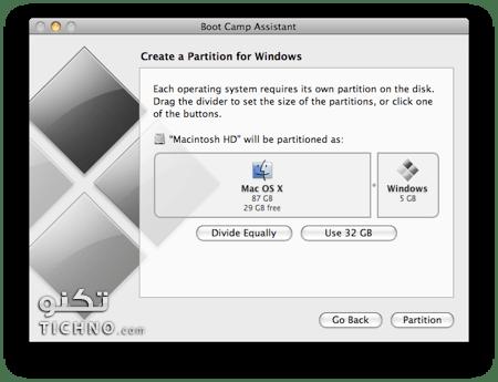 شرح تثبيت الويندوز 7 والويندوز 8 على الماك بوك برو