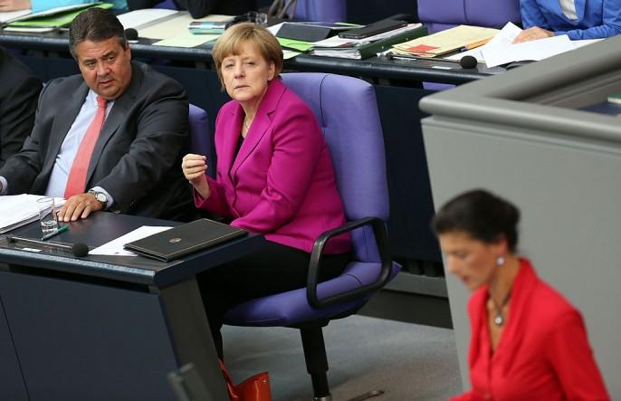 Merkel Gives Government Declaration At The Bundestag