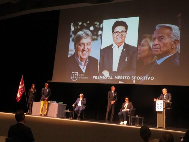 Geo e Vicky Mantegazza, Angelo Renzetti, Lugano, calcio, hockey, premio al merito sportivo