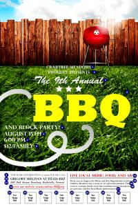 BBQ Backyard Logo Poster