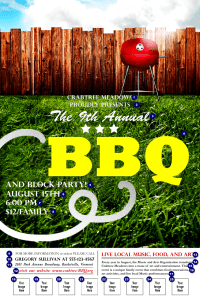BBQ Backyard Logo Poster | TicketPrinting.com
