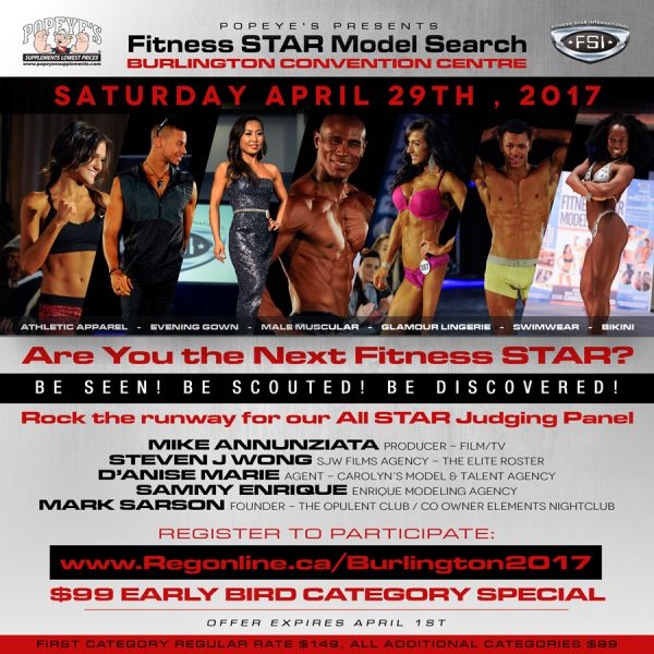 Popeyes presents Fitness STAR Model Search  Fitness STAR