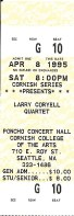 1995 Larry Coryell ticket stub Seattle