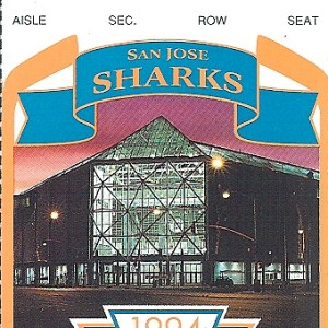 1994 NHL Playoffs Game 4 ticket stub Red Wings Sharks for sale