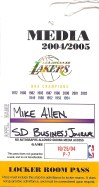 Los Angeles Lakers Media Pass 2004
