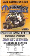 Twin 25's Irwindale Speedway 2003