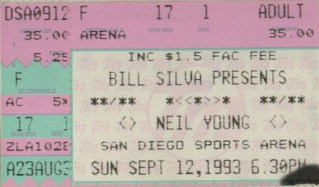 Neil Young with Booker T. & the MG's stub
