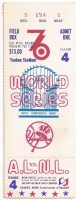 1976 World Series Yankees Game 4 ticket stub Reds vs Yankees