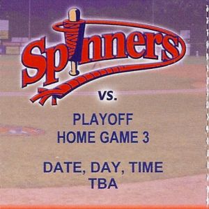 2010 Lowell Spinners playoff ticket stub