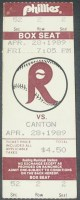 MiLB Canton Indians at Reading Phillies 1989