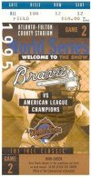 1995 World Series Game 2 ticket Indians at Braves